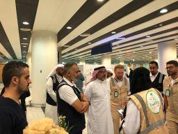 جوخدار يصل الى المدينة المنورة ويقوم بجولة للمرافق الصحية في المطار.@amalalbsheer