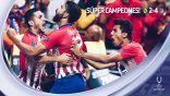 أتلتيكو مدريد يتوج بلقب السوبر الأوروبي برباعية بمرمى ريال مدريد  #ريال_مدريد_اتليتكو_مدريد